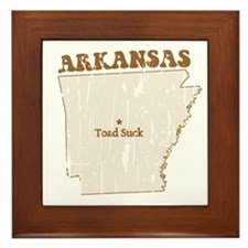 Vintage Toad Suck, Arkansas Framed Tile