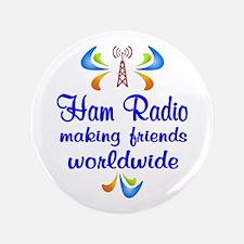 """Ham Radio Worldwide 3.5"""" Button"""