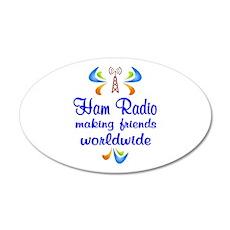 Ham Radio Worldwide Wall Decal