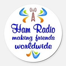 Ham Radio Worldwide Round Car Magnet