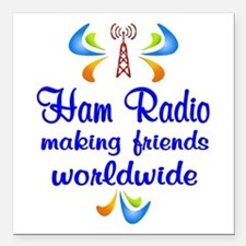 "Ham Radio Worldwide Square Car Magnet 3"" x 3"""
