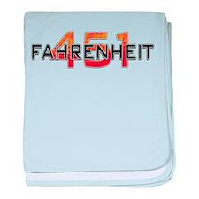 Fahrenheit 451 Logo baby blanket
