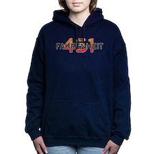 Fahrenheit 451 Logo Women's Hooded Sweatshirt