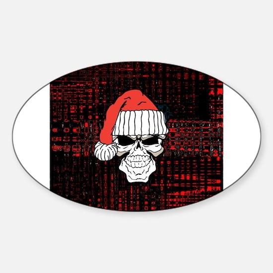 Santa Skull Decal