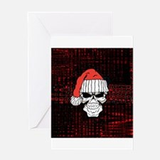 Santa Skull Greeting Cards