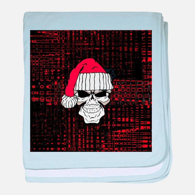 Santa Skull baby blanket