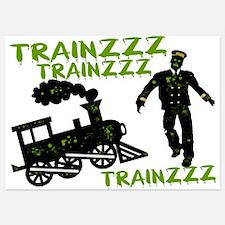 Zombie Train Conductor Invitations