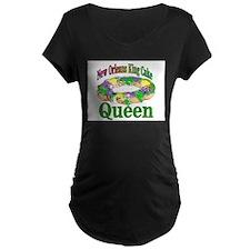 King Cake Queen Maternity T-Shirt
