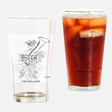 Heavy Metal Cartoon 4609 Drinking Glass