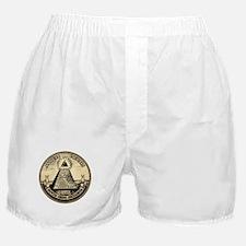 Steampunk Illuminati New Order Sanded Boxer Shorts