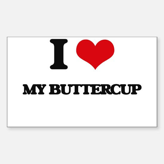 I Love My Buttercup Decal