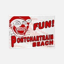Pontchartrain Beach Clown 5'x7'Area Rug