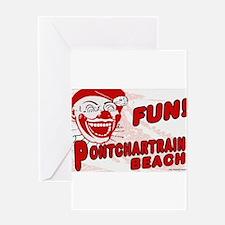 Pontchartrain Beach Clown Greeting Cards