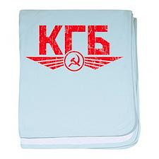 KGB Emblem Red baby blanket