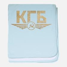KGB Emblem Grunge baby blanket