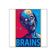 "Cute Brain Square Sticker 3"" x 3"""