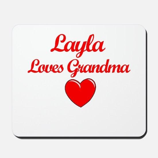 Layla Loves Grandma Mousepad