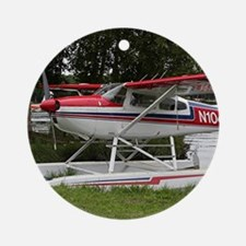 Cessna Float Plane (red, white & Ornament (Round)