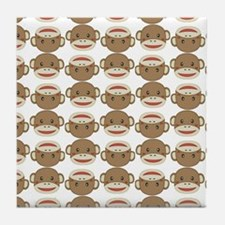 Silly Sock Monkey Tile Coaster