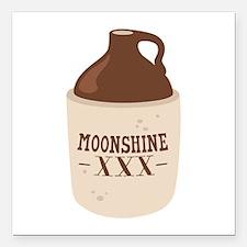 "Moonshine XXX Square Car Magnet 3"" x 3"""