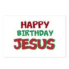 Happy Birthday Jesus Postcards (Package of 8)