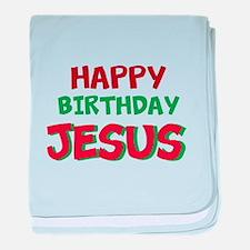Happy Birthday Jesus baby blanket