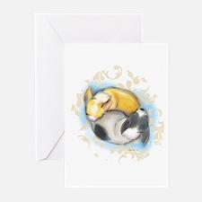 Sleeping Chihuahuas ByCatiaCho Greeting Cards