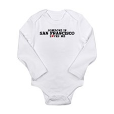 Cute Someone in california loves me Long Sleeve Infant Bodysuit