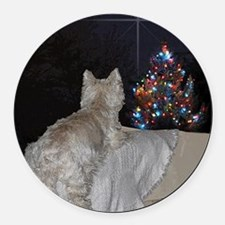 Cute Christmas tree Round Car Magnet