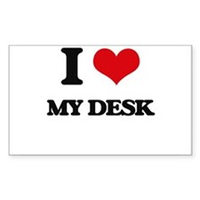 I Love My Desk Decal