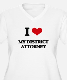 I Love My District Attorney Plus Size T-Shirt