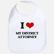 I Love My District Attorney Bib