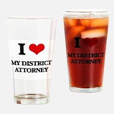 I Love My District Attorney Drinking Glass