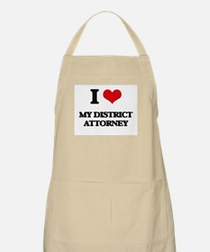 I Love My District Attorney Apron