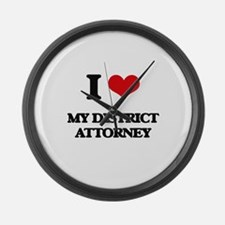 I Love My District Attorney Large Wall Clock