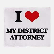 I Love My District Attorney Throw Blanket