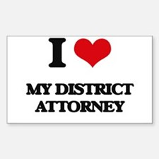 I Love My District Attorney Decal