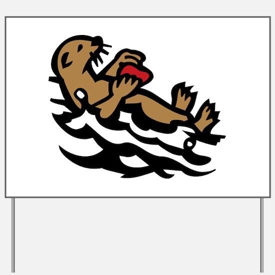 Sea otter Yard Sign