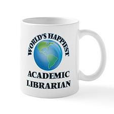 World's Happiest Academic Librarian Mugs