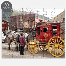 Horses and stagecoach, Colorado, USA Puzzle
