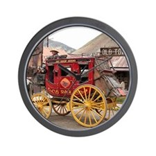Horses and stagecoach, Colorado, USA Wall Clock