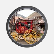 Horses and stagecoach, Colorado, USA Wall Clock