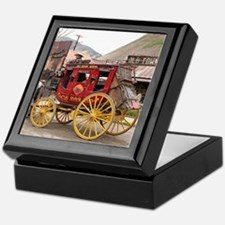 Horses and stagecoach, Colorado, USA Keepsake Box