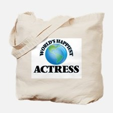 World's Happiest Actress Tote Bag