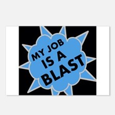 My Job is a Blast Postcards (Package of 8)