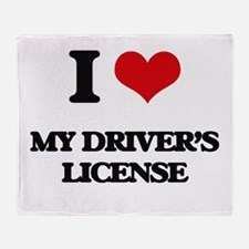 I Love My Driver's License Throw Blanket