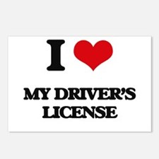 I Love My Driver's Licens Postcards (Package of 8)