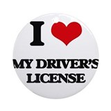 Drivers license Round Ornaments