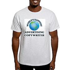 World's Happiest Advertising Copywriter T-Shirt