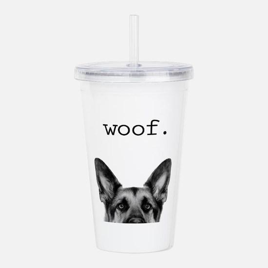 Woof4.jpg Acrylic Double-Wall Tumbler